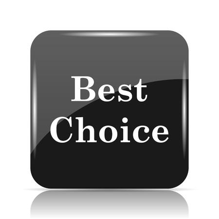 最高の選択アイコン。白い背景の上のインター ネット ボタン。