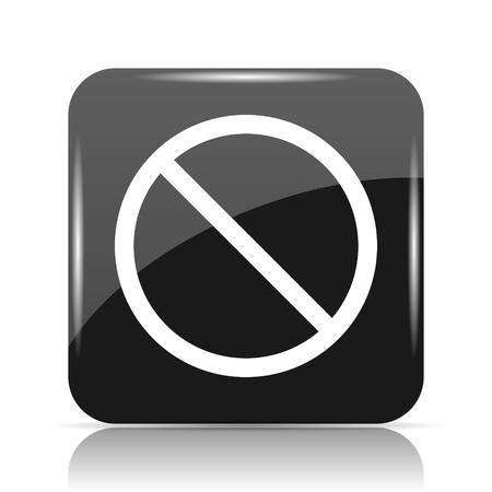 Forbidden icon. Internet button on white background. Stock Photo