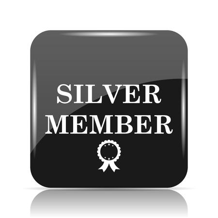 privilege: Silver member icon. Internet button on white background. Stock Photo