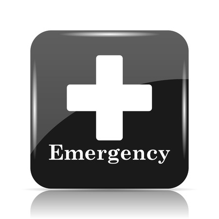 Emergency icon. Internet button on white background. Stock Photo
