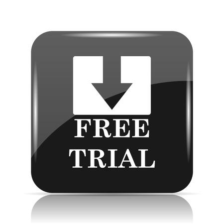 Free trial icon. Internet button on white background. Stock Photo