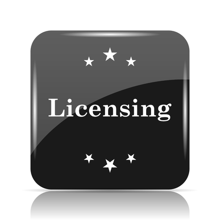 Licensing icon. Internet button on white background.