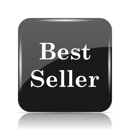 最高の売り手のアイコン。白い背景の上のインター ネット ボタン。