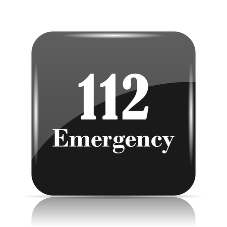 112 Emergency icon. Internet button on white background.