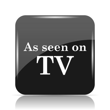 communicate  isolated: As seen on TV icon. Internet button on white background. Stock Photo