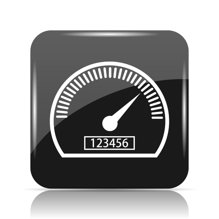 Speedometer icon. Internet button on white background.