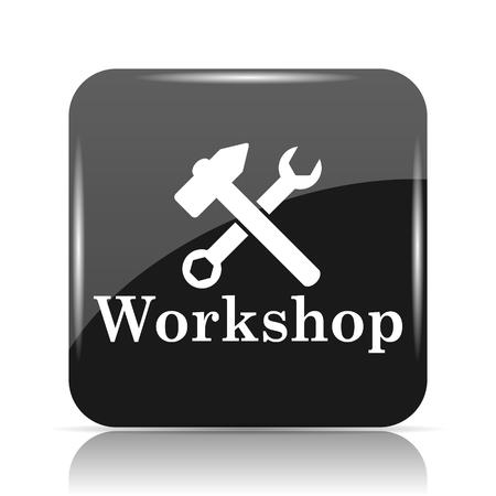 course development: Workshop icon. Internet button on white background.