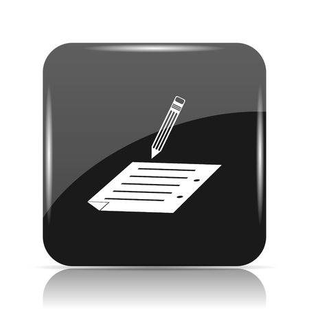 Subscribe icon. Internet button on white background. Stock Photo