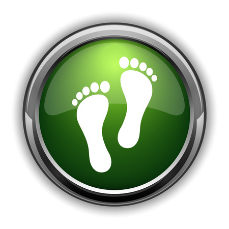 Foot print icon. Foot print website button on white background