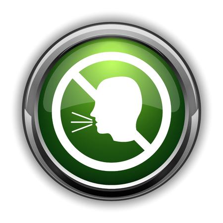 No talking icon. No talking website button on white background