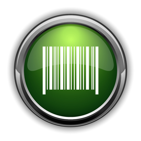 Barcode icon. Barcode website button on white background