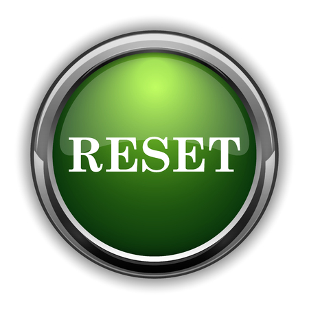 Reset icon. Reset website button on white background