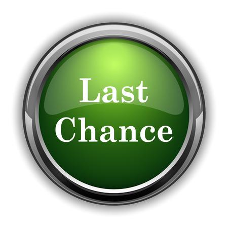 last chance: Last chance icon. Last chance website button on white background Stock Photo