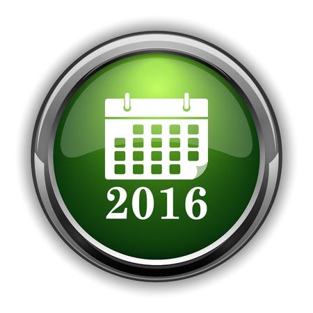 2016 calendar icon. 2016 calendar website button on white background Stock Photo