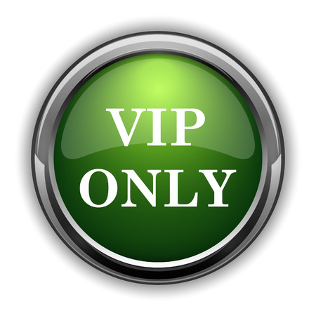 VIP only icon. VIP only website button on white background