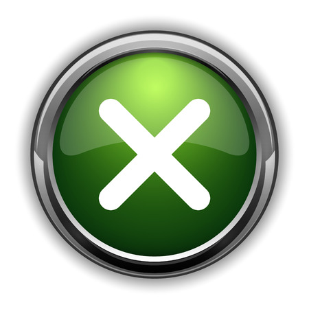 X close icon. X close website button on white background