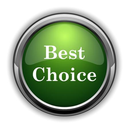 最高の選択アイコン。白い背景の上の最高の選択ウェブサイトのボタン