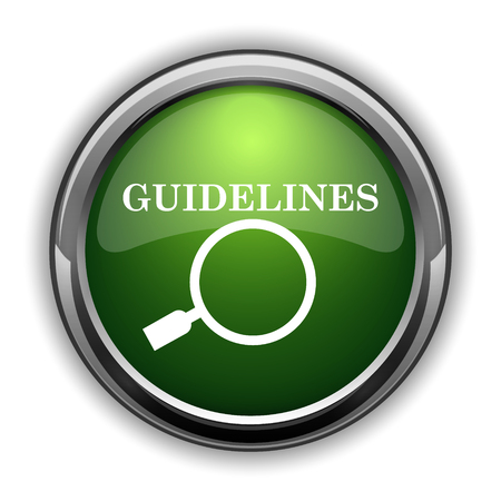 Guidelines icon. Guidelines website button on white background