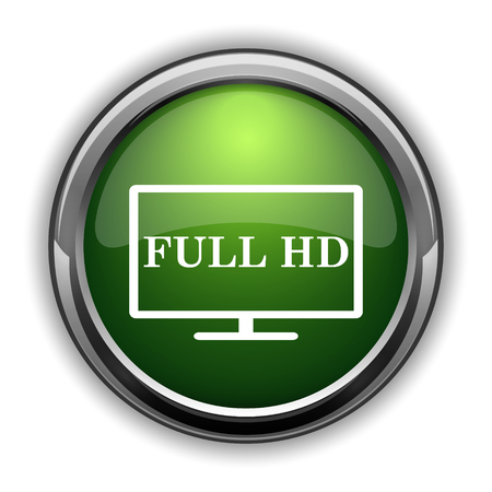 Full HD icon. Full HD website button on white background Stock Photo