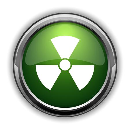 Radiation icon. Radiation website button on white background