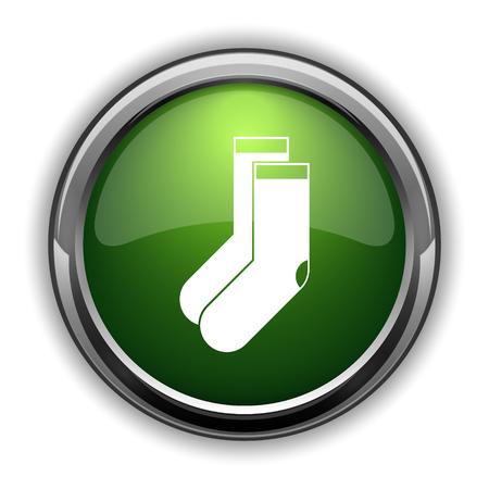 Socks icon. Socks website button on white background