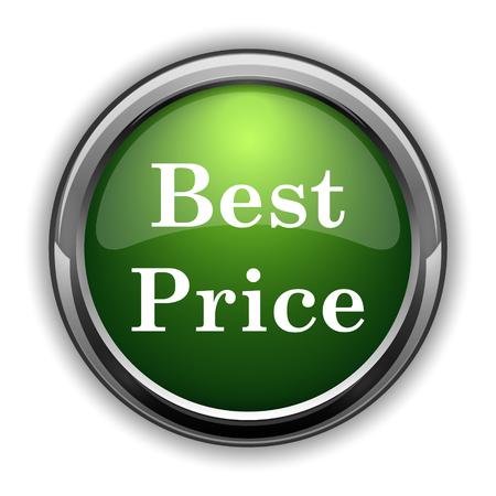 最高の価格のアイコン。白い背景に最高の価格のウェブサイトのボタン