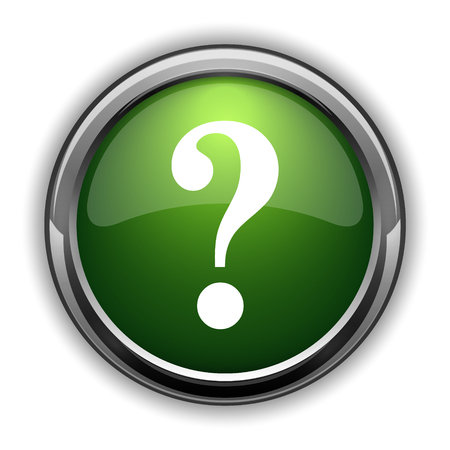 Question mark icon. Question mark website button on white background