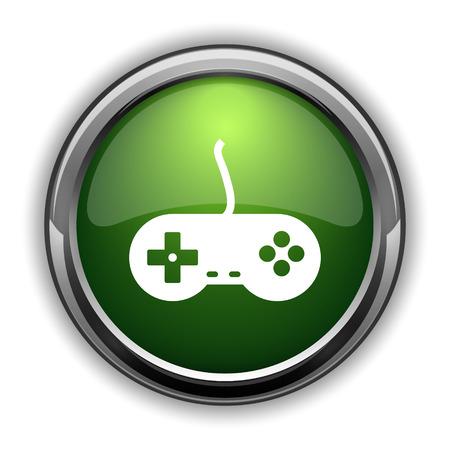 Gamepad icon. Gamepad website button on white background