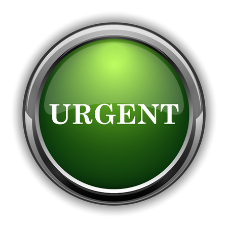 promptness: Urgent icon. Urgent website button on white background