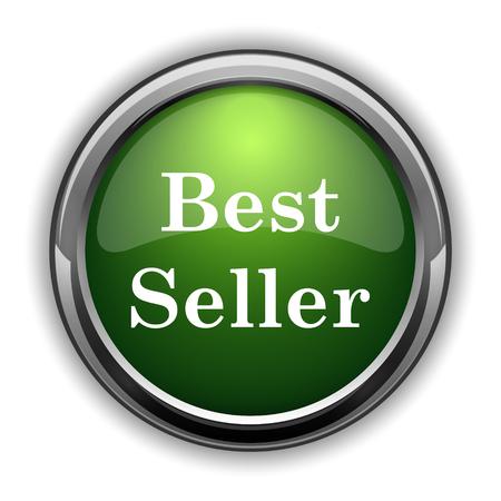 最高の売り手のアイコン。白い背景の上最高の売り手のウェブサイトのボタン
