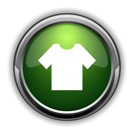 T-shirt icon. T-shirt website button on white background