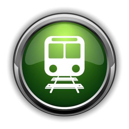 Train icon. Train website button on white background