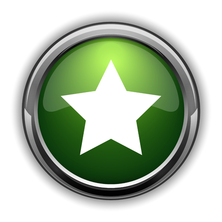 Favorite  icon. Favorite  website button on white background Stock Photo