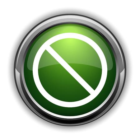 Forbidden icon. Forbidden website button on white background