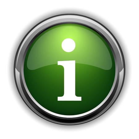 Info icon. Info website button on white background