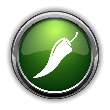 cayenne: Pepper icon. Pepper website button on white background