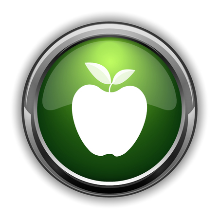 Apple icon. Apple website button on white background Stock Photo