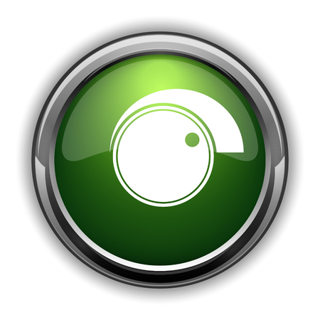 Volume control icon. Volume control website button on white background Banco de Imagens