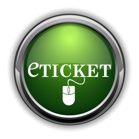 Eticket icon. Eticket website button on white background