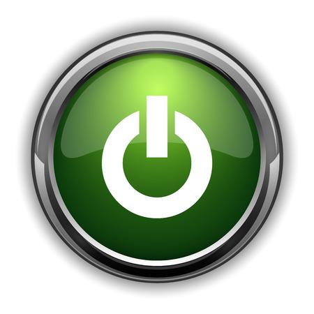 Power button icon. Power button website button on white background Stock Photo
