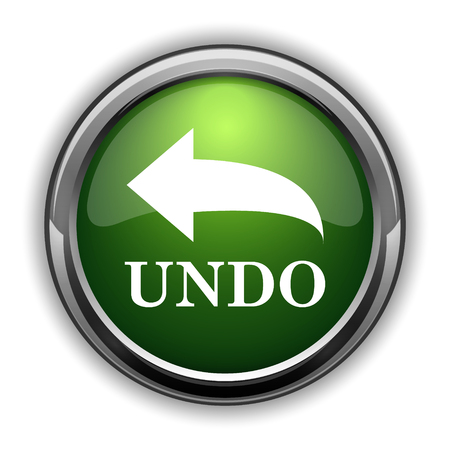 Undo icon. Undo website button on white background Stock Photo