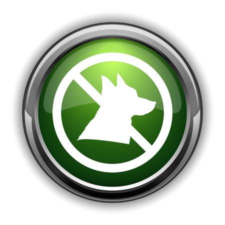 Forbidden dogs icon. Forbidden dogs website button on white background