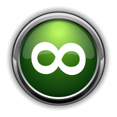 Infinity sign icon. Infinity sign website button on white background Stock fotó