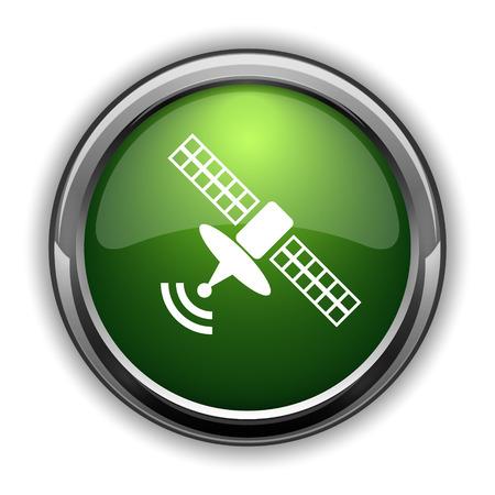 tv tower: Antenna icon. Antenna website button on white background