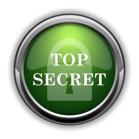 Top secret icon. Top secret website button on white background