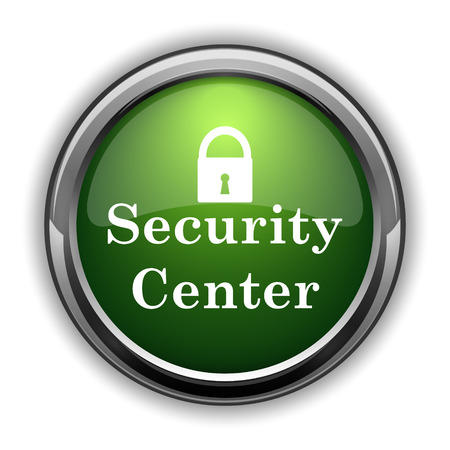 Security center icon. Security center website button on white background