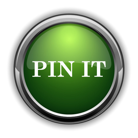 Pin it icon. Pin it website button on white background