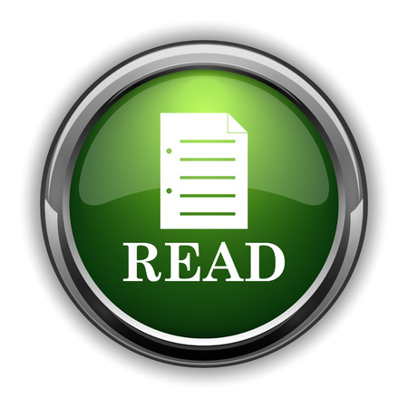 Read icon. Read website button on white background Stock Photo
