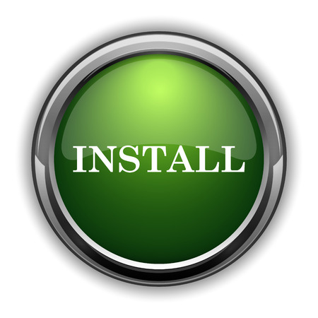 operative system: Install icon. Install website button on white background Stock Photo