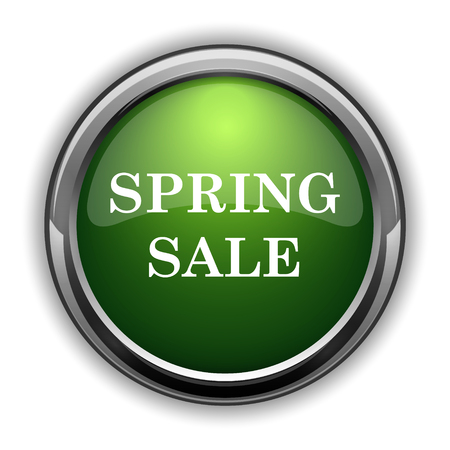 Spring sale icon. Spring sale website button on white background